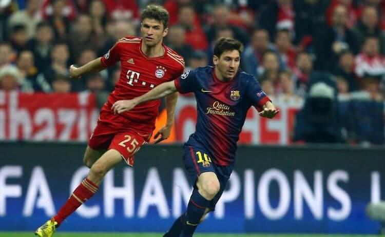 Европа. Лига чемпионов. 1/4 финала. Барселона— Бавария. 14.08. 2020 г.