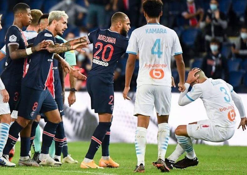 ПСЖ и Марсель обновили рекорд по карточкам Лиги 1 в 21 веке