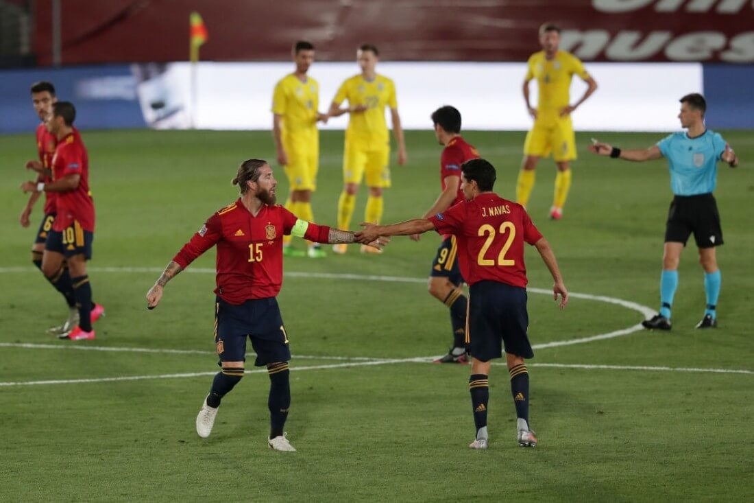 Сборные. Лига наций. Лига А. Украина — Испания. 13.10.2020 г.