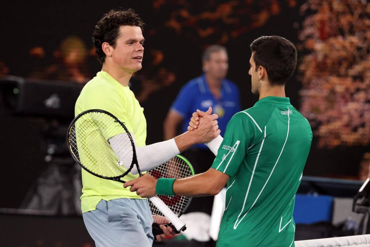 Австралия. ATP. Открытый чемпионат Австралии. Мужчины. 1/8 финала. Новак Джокович — Милош Раонич. 14.02.2021 г