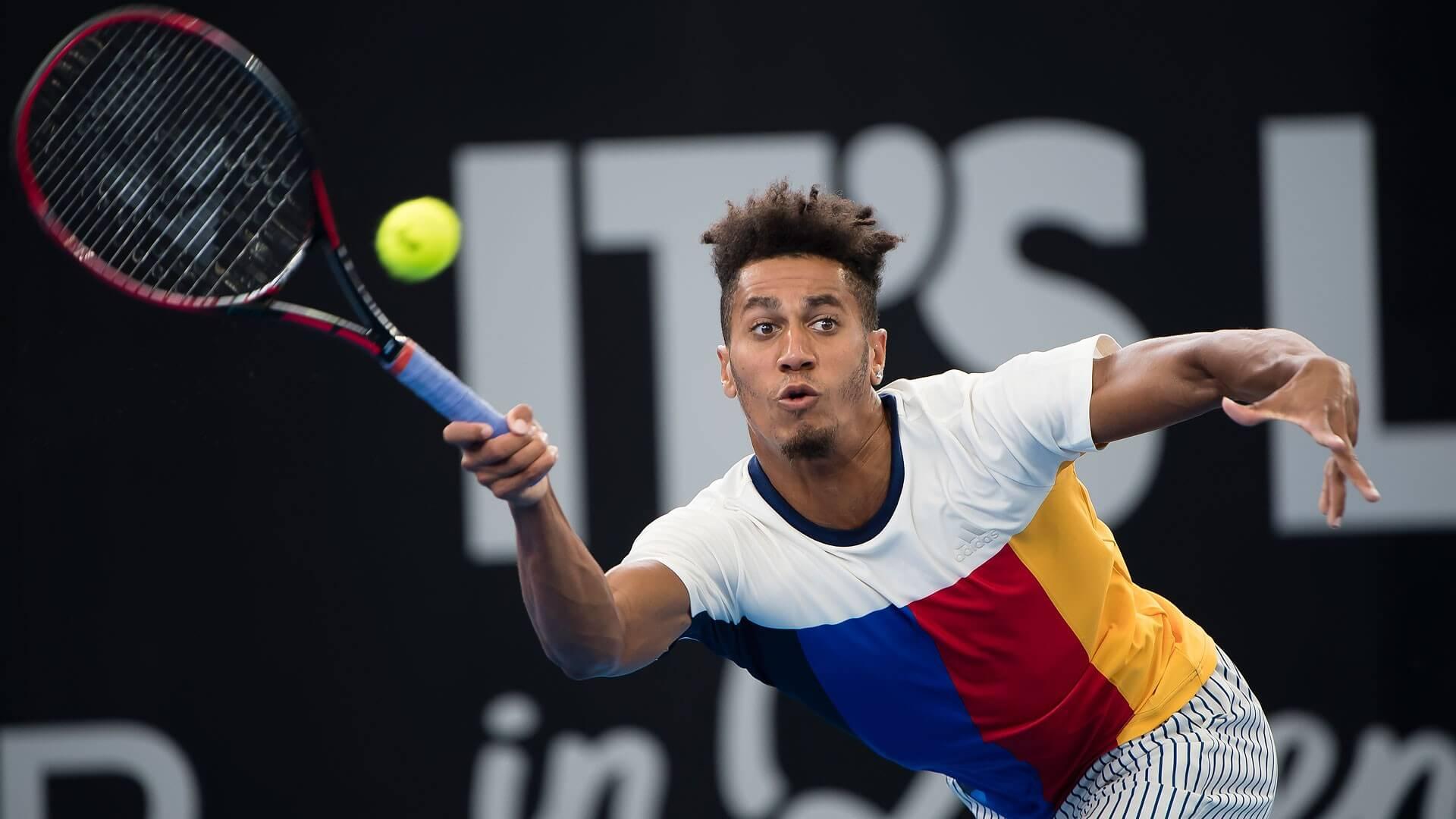Сингапур. ATP. Мужчины. 1/16 финала. Майкл Ммо — Есихито Нисиока. 22.02.2021 г