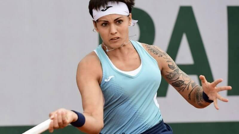 Франция. Сен-Мело. WTA. Женщины. 1/8 финала. Осеан Доден — Алена Большова. 05.05.2021 г